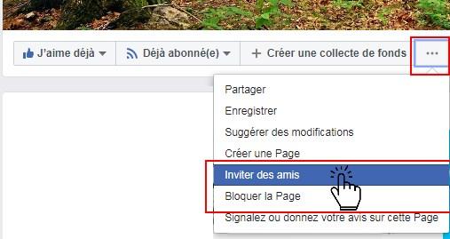Inviter des amis à aimer la page facebook semeurs de forêts