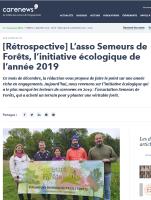 Semeurs de forêts, initiative écologique de l'année pour les lecteurs de Carenews